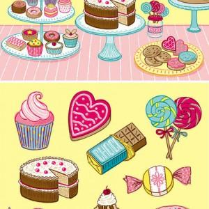 Sweets and Treats stickerbook - Galison Mudpuppy