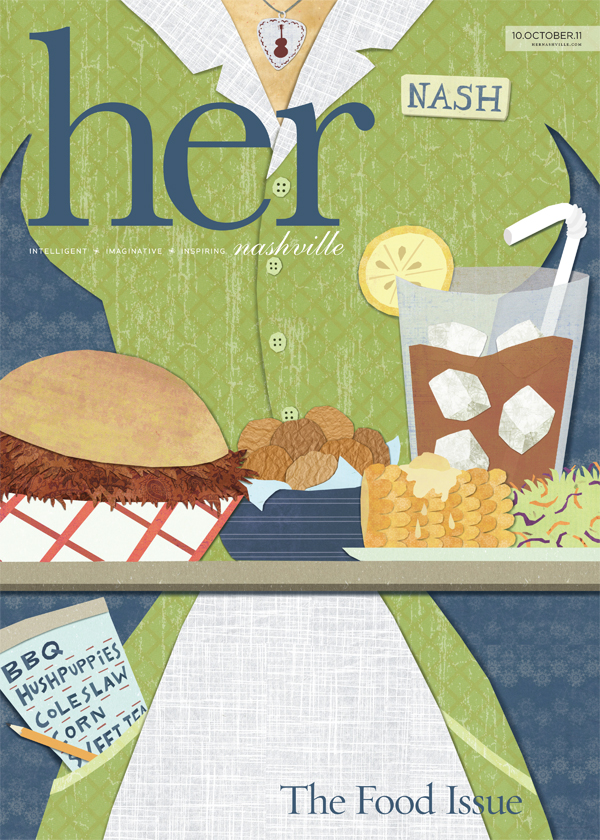 Alice Feagan | Her Magazine Cover � Food Issue - illustration news