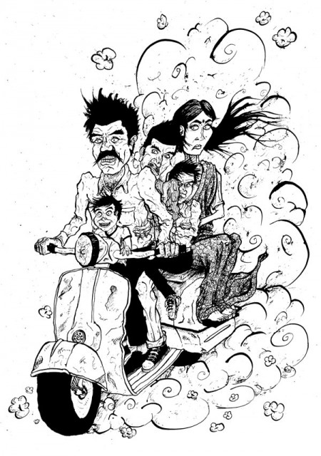 boston-globe-health-and-safety-indian-family-on-a-motorbike-motorcycle-david-procter-illustration