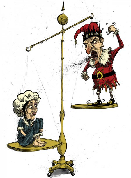 diplomat-punch-and-judy-domestic-violence-equality-gender-balance-david-procter-illustration