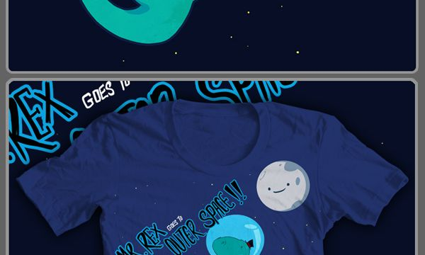 Threadless t rex in outer space hire an illustrator for Jobs in outer space