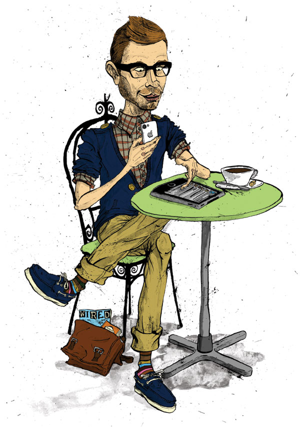 pr-week-digital-media-specialist-hipster-hoxton-shoreditch-trendy-iphone-ipad-caricature-cartoon-illustration-david-procter
