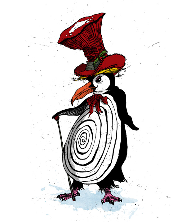 penguin-christmas-card-david-procter-illustrator