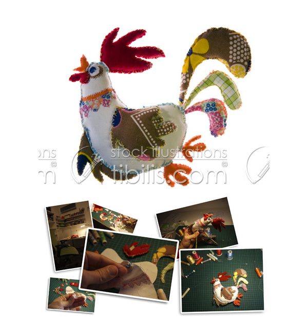111-HAI-Rooster-Fabric-cartoon-tibilis-com