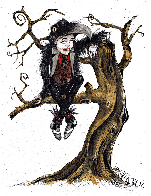 boy-in-crow-fancy-dress-up-a-twisted-tree-illustration-david-procter