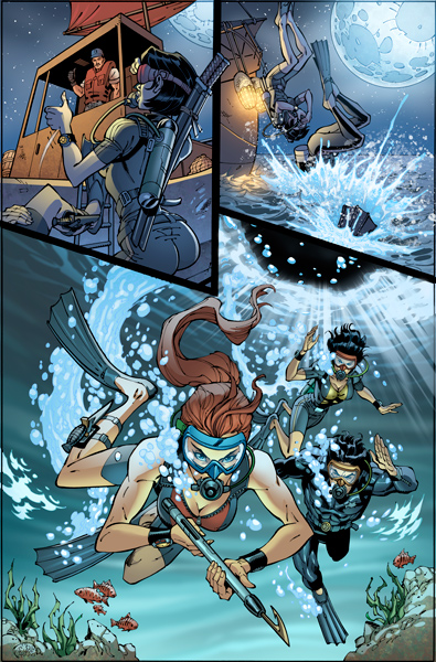 Crossfire Book 5 >> Issue 3 Danger Girl / G.I.Joe - Hire an Illustrator