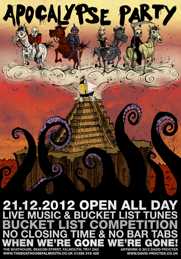 2012-mayan-apocalypse-party-pyramid-4-horsemen-the-boathouse-poster-david-procter-illustrator
