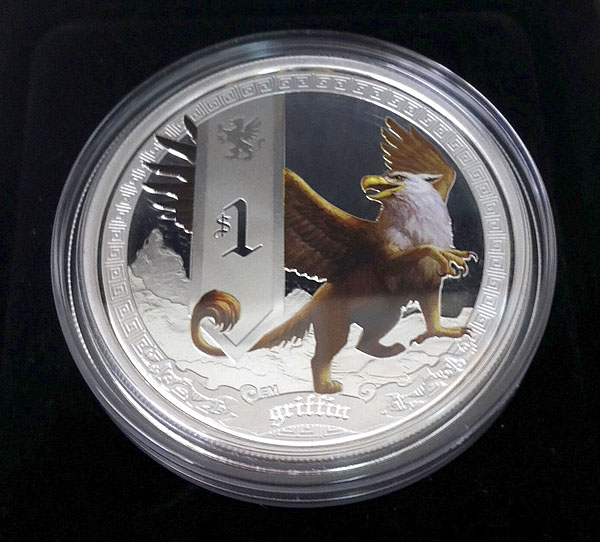 Mythical_Creatures_1oz_Silver_Proof_Coin_Series_-_1st_Release_2013_Griffin_photo