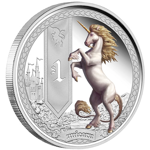 Mythical Creatures Coin Series Unicorn Hire An Illustrator