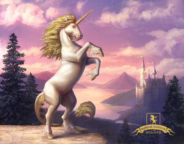 Elise-M-_Unicorn_Mythical_Creatures_postcard