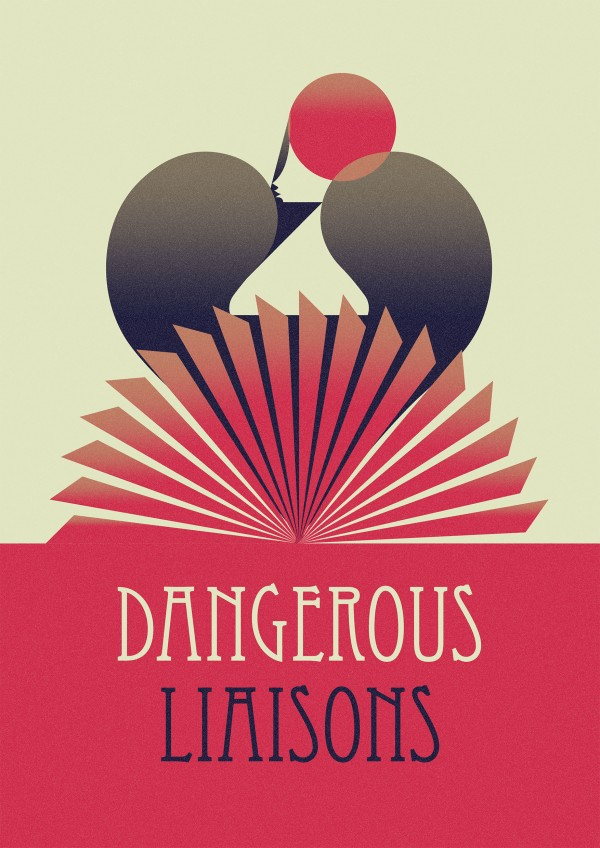 Dangerous Liaisons theatre poster by Marcus Marritt