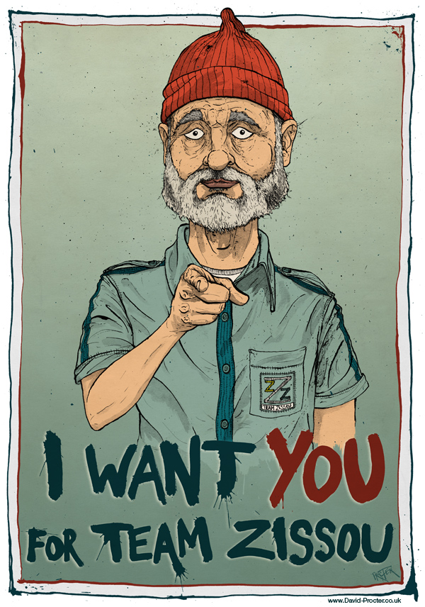 bill-murray-the-life-aquatic-with-steve-zissou-I-want-you-for-team-zissou-caricature-david-procter-illustration