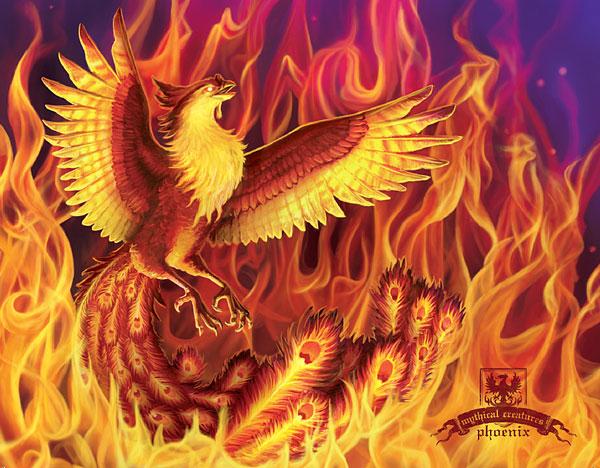 Elise-M-_Phoenix_Mythical_Creatures_postcard