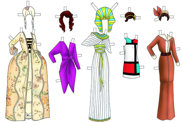 Paper doll dress up fashion through the ages cico books hire hai dress2 pronofoot35fo Choice Image