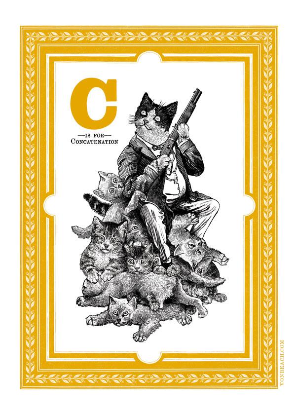 vonbeach-alphabet-C