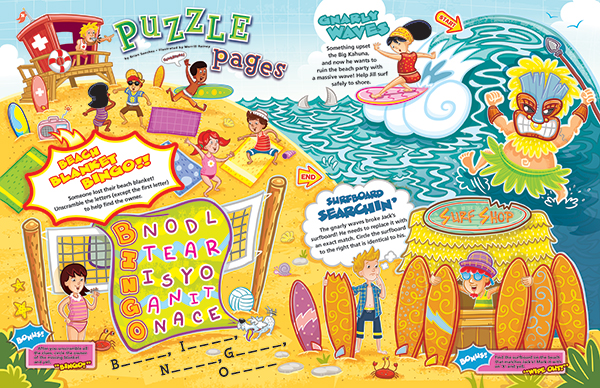 Puzzle Pages For The May June Issue Of Jack Amp Jill Magazine Hire An Illustrator