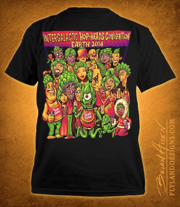 T-Shirt Illustration of Hop-Heads