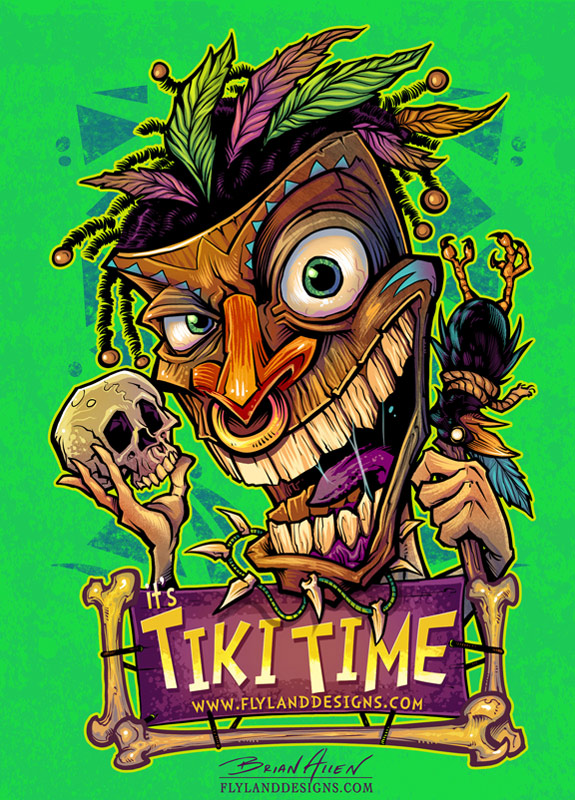 Tiki Witchdoctor T-Shirt Design