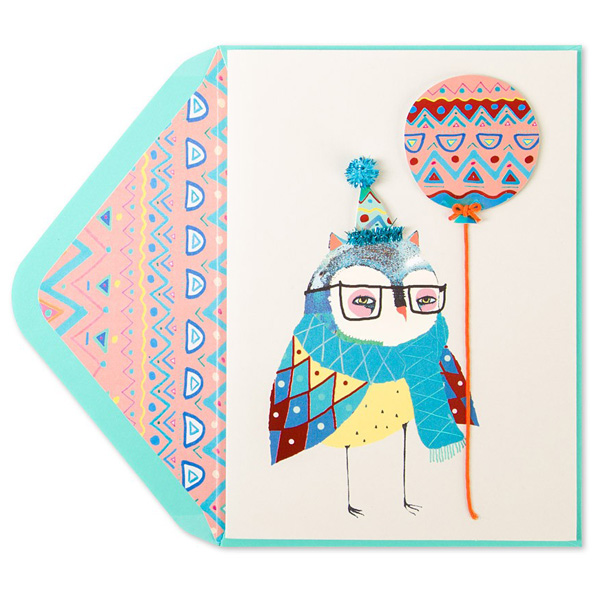 Birthday card for papyrus hire an illustrator i have designed an owl birthday card for papyrus papyrus have over 450 stores across the united states canada and hong kong m4hsunfo