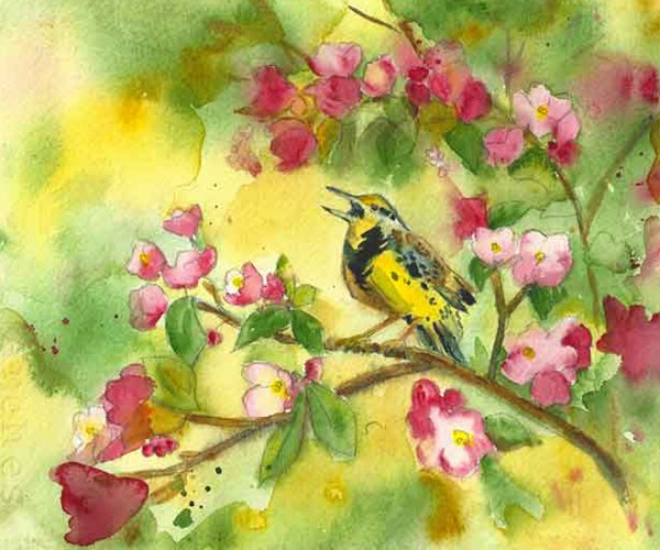 Alouettes-Travel-Meadowlark-painting