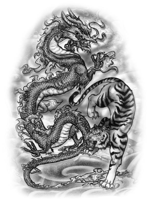 Tiger-and-Dragon-Half-Sleeve-my-version