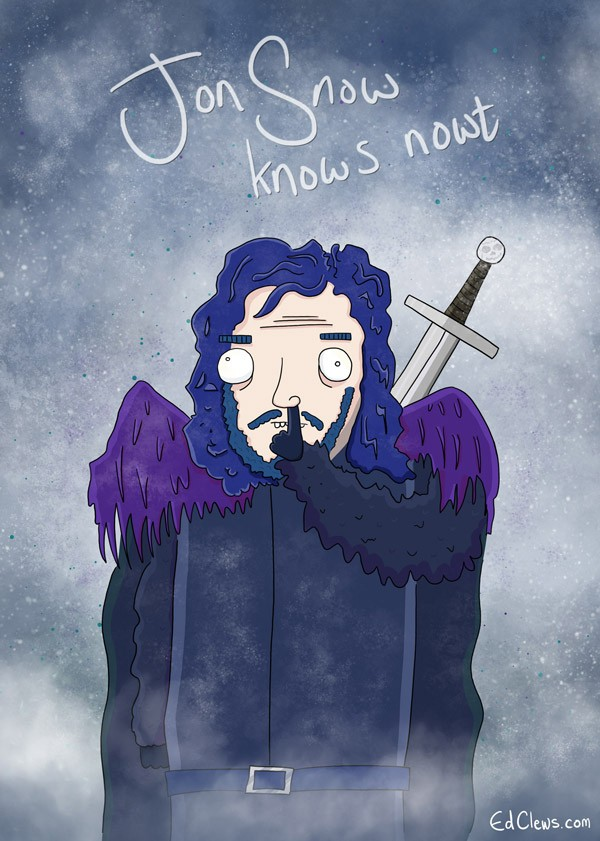 Jon-Snow-knows-nowt-by-Ed-Clews-600