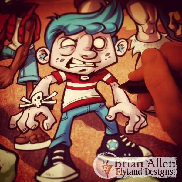 Strange Kids Club Bronar Poster Illustration