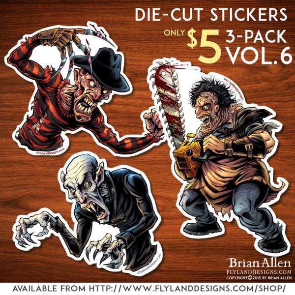 Horror Movie Monster Sticker Set