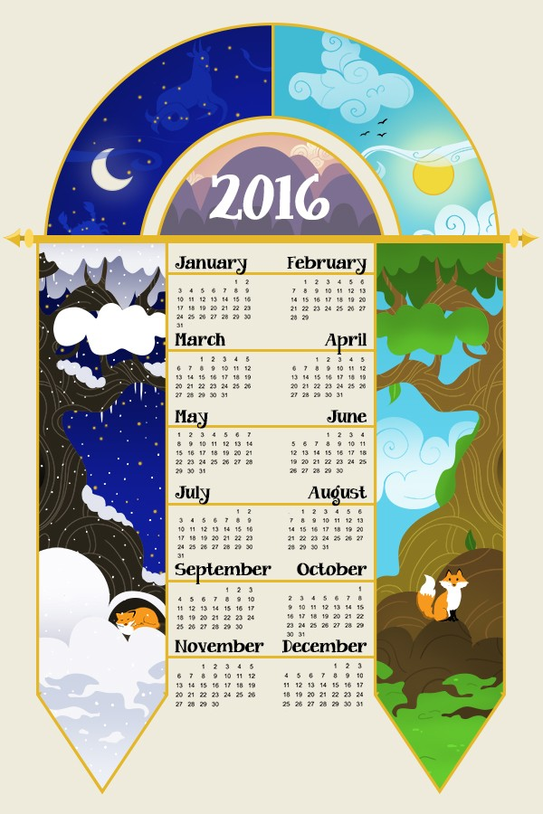 Calendar Illustration Jobs : Calendar tea towel hire an illustrator