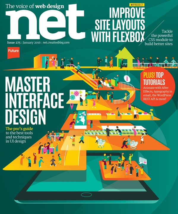 Book Cover Artist For Hire : Net magazine cover illustration hire an illustrator