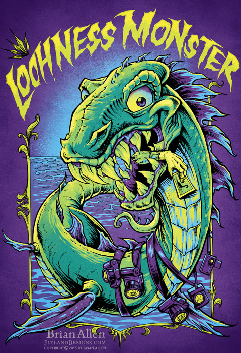 Lochness Monster Band Poster Design