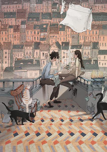 2-plakat_Miasto-kotow_ilustracja