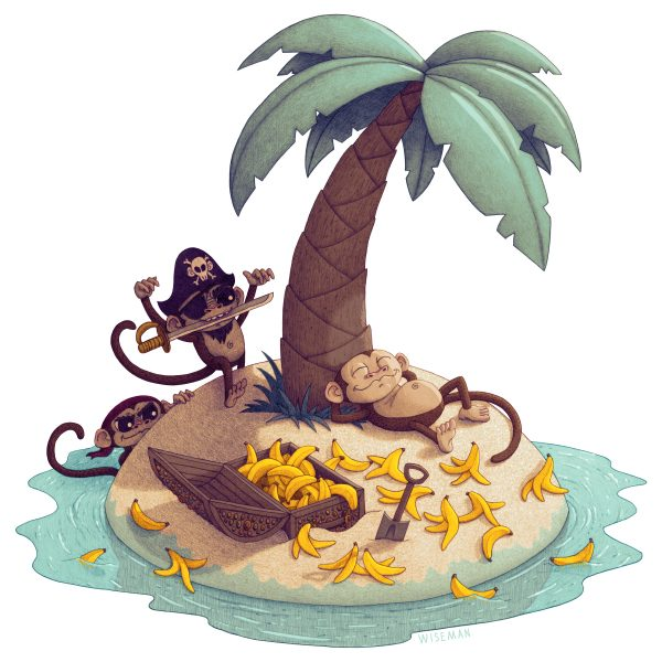 Monkey-Desert-Island