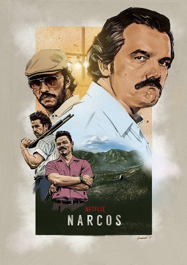 narcos alternative netflix poster hire an illustrator
