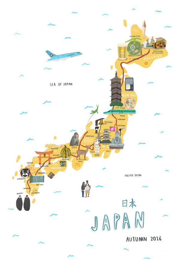 Map Of Japan Hire An Illustrator - Japan map 5
