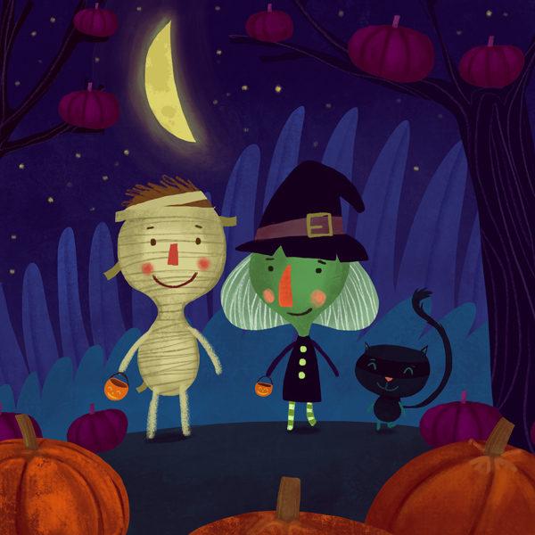 Halloween scenes – Hire an Illustrator