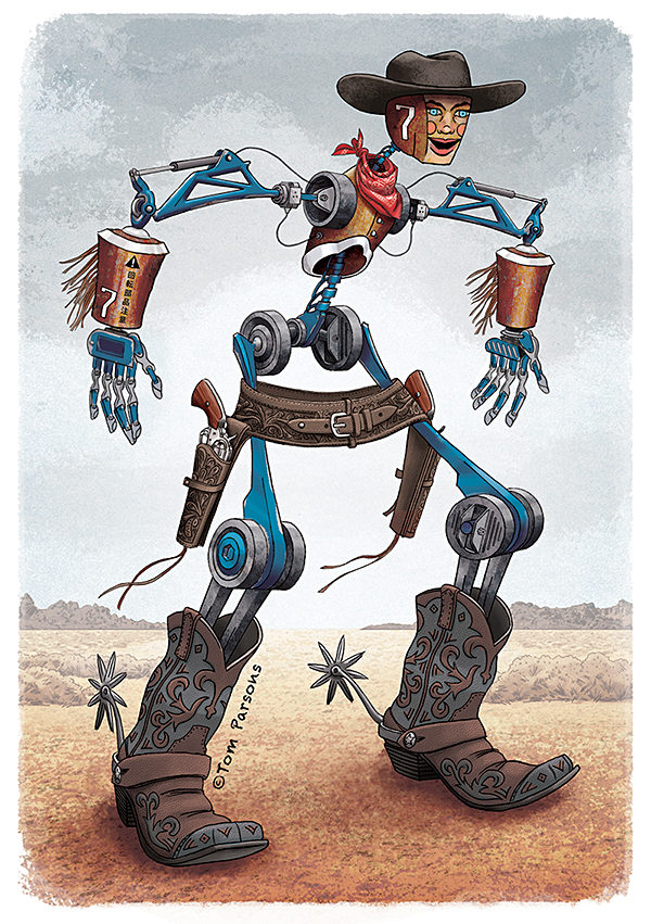 Character Design Hire : Cowbot new character design hire an illustrator